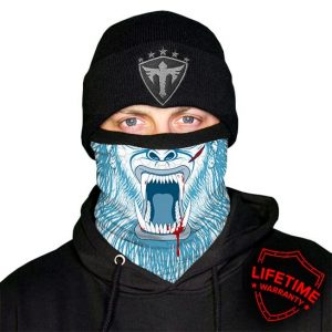 Alpha Defense Gear Frost Tech™ / Abominable Fleece Face Shield™ / Multi-Use Tubular Bandana / Blue/White