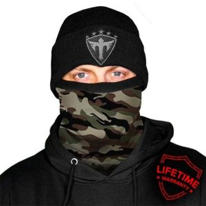 Alpha Defense Gear Frost Tech™ / Basic Military Camo Fleece Face Shield / Multi-Use Tubular Bandana
