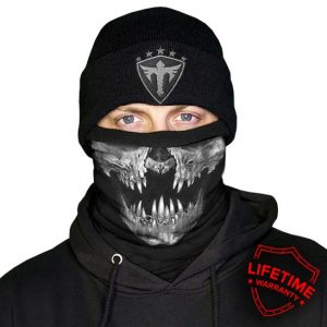 Alpha Defense Gear Frost Tech™ / Decay Fleece Face Shield® / Multi-Use Tubular Bandana / Grey