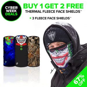 Alpha Defense Gear Frost Tech™ Fleece Face Shields / Pick Your Pack of 3 / Multi-Use Tubular Bandana - DA-P88030-CM