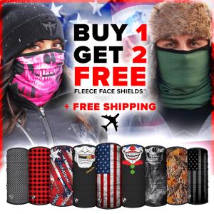 Alpha Defense Gear Frost Tech™ Fleece Face Shields / Pick Your Pack of 3 / Multi-Use Tubular Bandana - DA-P88030-EM