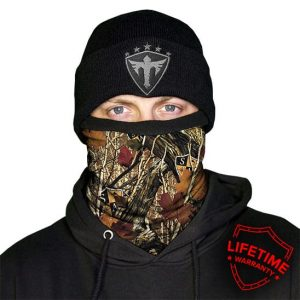 Alpha Defense Gear Frost Tech™ / Forest Camo Fleece Face Shield® / Multi-Use Tubular Bandana