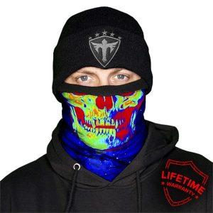 Alpha Defense Gear Frost Tech™ / Galactic Skull Fleece Face Shield® / Multi-Use Tubular Bandana