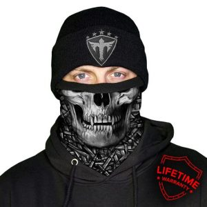 Alpha Defense Gear Frost Tech™ / Hollow Head Fleece Face Shield® / Multi-Use Tubular Bandana / Grey