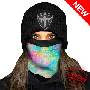 Alpha Defense Gear Frost Tech™ / Rainbow Spiral Fleece Face Shield™ / Multi-Use Tubular Bandana