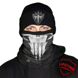 Alpha Defense Gear Frost Tech™ / Skull Tech Sinister Fleece Face Shield® / Multi-Use Tubular Bandana