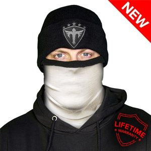 Alpha Defense Gear Frost Tech™ / Solid White Fleece Face Shield™ / Multi-Use Tubular Bandana