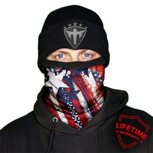 Alpha Defense Gear Frost Tech™ / USA Fleece Face Shield® / Multi-Use Tubular Bandana / Red/White/Blue