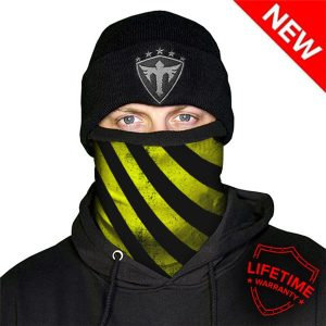 Alpha Defense Gear Frost Tech™ / Under Construction Yellow Fleece Face Shield™ / Multi-Use Tubular Bandana