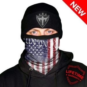 Alpha Defense Gear Frost Tech™ / We the People Fleece Face Shield / Multi-Use Tubular Bandana