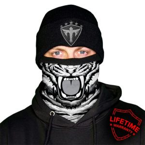 Alpha Defense Gear Frost Tech / White Tiger Fleece Face Shield® / Multi-Use Tubular Bandana