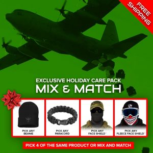 Alpha Defense Gear Holiday Care Pick Your Pack / Includes: Microfiber Cloth Face Shield™, Beanie Hat - DA-P88070