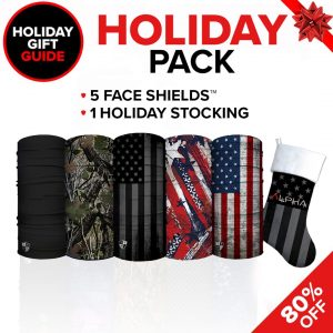 Alpha Defense Gear Holiday Pick Your Pack / Polyester / Includes: Face Shield™, - DA-5PACK-GG-PD5