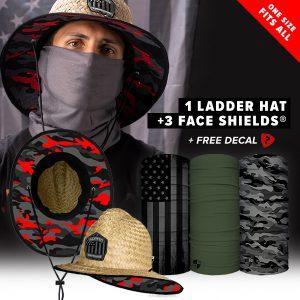 Alpha Defense Gear Ladder Hat Pick Your Pack / Includes: Decal Sticker - DA-P88200