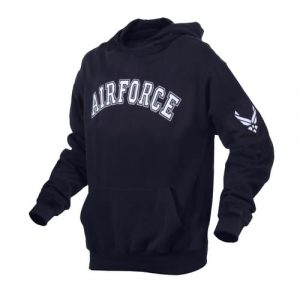 Alpha Defense Gear Military Embroidered Pullover Hoodie / Air Force / Size M / Polyester/ / Cotton