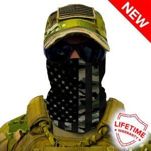 Alpha Defense Gear Patriot Military Camo Face Shield™ / Multi-Use Tubular Bandana