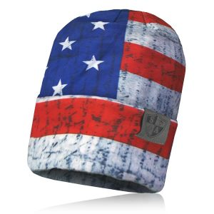 Alpha Defense Gear Performance Beanie / American Flag / Polyester/Cotton / Red/White/Blue