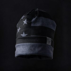 Alpha Defense Gear Performance Beanie / Blackout American Flag / Polyester/Cotton