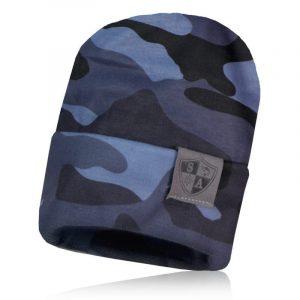 Alpha Defense Gear Performance Beanie / Grey Military Camo / Polyester/Cotton