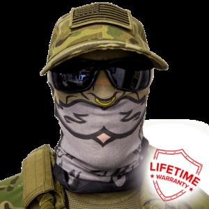 Alpha Defense Gear Pirate Face Shield / Multi-Use Tubular Bandana / Polyester