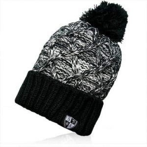 Alpha Defense Gear SA BEANIE / BLACK TRIO POM BEANIE / Polyester/Cotton