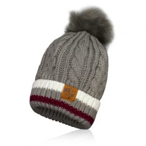 Alpha Defense Gear SA BEANIE / GREY STRIPE FUR POM / Polyester/Cotton
