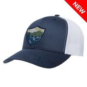 Alpha Defense Gear SA CO. SNAP BACK HAT / NAVY & WHITE / DEER MOUNTAINS