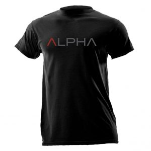 Alpha Defense Gear Short Sleeve T-Shirt / Black / Alpha / Size M / Cotton