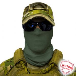 Alpha Defense Gear Solid Face Shield™ / Green / Multi-Use Tubular Bandana / Polyester
