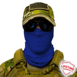 Alpha Defense Gear Solid Face Shield™ / Navy / Multi-Use Tubular Bandana / Polyester / Blue