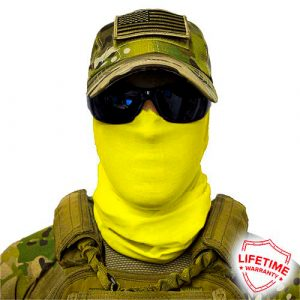 Alpha Defense Gear Solid Face Shield™ / Safety Yellow / Multi-Use Tubular Bandana / Polyester