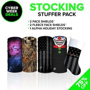 Alpha Defense Gear Stocking Stuffer Pick Your Pack / Includes: Face Shield™, - DA-5PACK-SS-CM-PD5