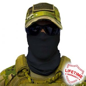 Alpha Defense Gear Tactical Face Shield™ / Black / Multi-Use Tubular Bandana / Polyester