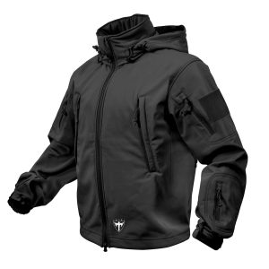 Alpha Defense Gear Tactical Soft Shell Jacket / Black / Size L / Polyester / Waterproof