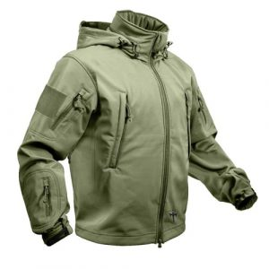 Alpha Defense Gear Tactical Soft Shell Jacket / Olive Drab Green / Size 2XL / Polyester / Waterproof