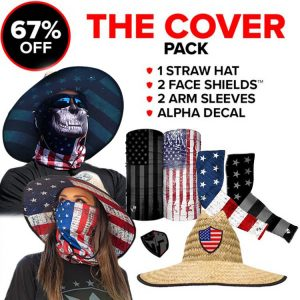 Alpha Defense Gear The Cover Pick Your Pack / Includes: Face Shield™, Decal Sticker, Hat - DA-P88173-DD