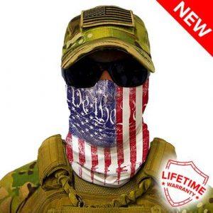Alpha Defense Gear We the People Face Shield™ / Multi-Use Tubular Bandana / Polyester