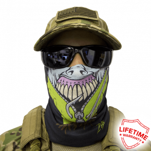 Alpha Defense Gear Zip Face Shield / Multi-Use Tubular Bandana / Polyester