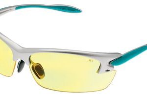 Cabela's S.T.R. Shooting Glasses for Ladies - Silver/Teal/Amber