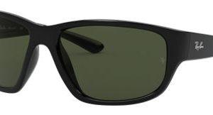 Ray-Ban RB4300 Glass Sunglasses - Black/Green - Large