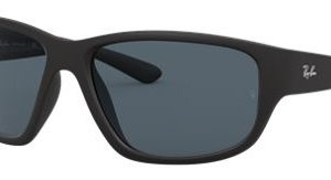 Ray-Ban RB4300 Glass Sunglasses - Matte Black/Blue - Large