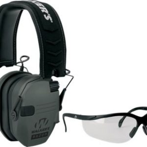 Walker's Razor Series Ultralow-Profile Muffs with Shooting Glasses Combo