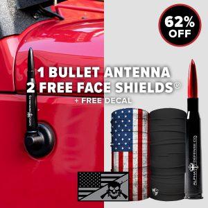 Alpha Defense Gear Bullet Antenna Pack - DA-P88192-Jeeps