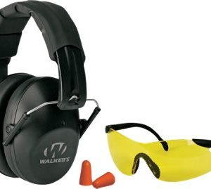 Walker's Game Ear Pro Safety Muff, Shooting Glasses, and Earplugs Combo Kit