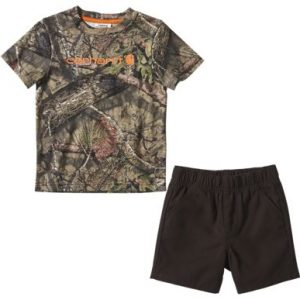 Carhartt 2-Piece Camo Short-Sleeve T-Shirt and Canvas Shorts Set for Babies or Toddlers