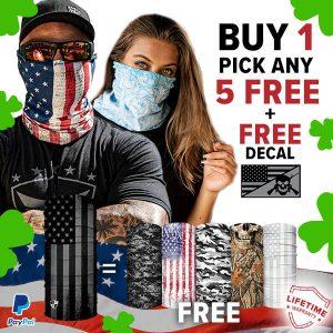 Alpha Defense Gear BUY 1 FACE SHIELD®, GET 5 FREE! - DA-5PACK-FB-DOM330-ST-P