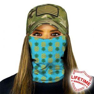 Alpha Defense Gear Pineapple Face Shield™ / Turquoise / Multi-Use Tubular Bandana / Polyester