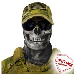 Alpha Defense Gear Skull Tech Face Shield™ / Crow / Multi-Use Tubular Bandana / Polyester