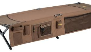 Cabela's Camp Cot with Organizer - Brown