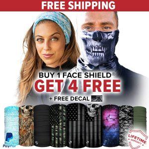 Alpha Defense Gear BUY 1 FACE SHIELD®, GET 4 FREE! - DA-5PACK-FB-DOM330